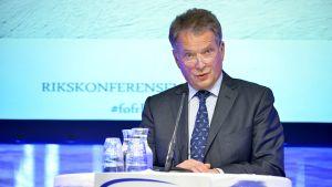 Presidentti Sauli Niinistö puhui Sälenin turvallisuuskokouksessa sunnuntaina 12. tammikuuta.