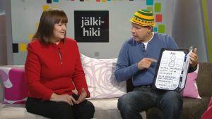 Reetta Meriläinen ja Kai Kunnas Aamu-tv:ssä 27. tammikuuta 2014.