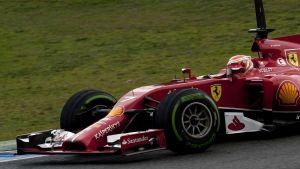 Ferrarin Kimi Räikkönen.