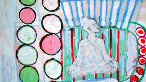Maarianhaminassa työskentelevän Caroline Pippingin värikäs teoskuva