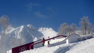 Sotshin slopestylerinne.
