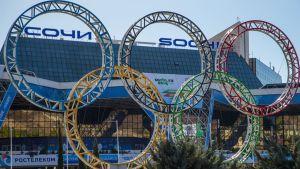 Olympiarenkaat kuvassa