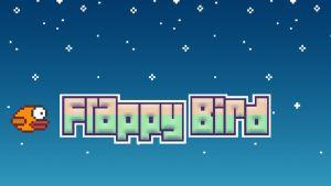 Kuvakaappaus Flappy Birdin alkuruudusta.