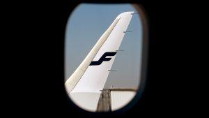 Finnairin lentokone.