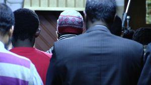 Rukoushetki moskeijassa 14. helmikuuta 2014.