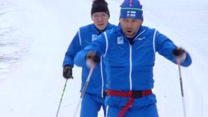 Rudolf Klemetti harjoittelee Sotshin paralympialaisia varten.