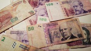 Argentiinan pesoja.