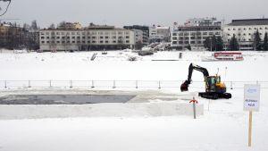 kemijoen jäälle tehdään isoa avantoa MM-kisoja varten