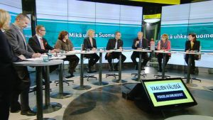 Kansanedustajat keskustelivat turvallisuus- ja puolustuspolitiikasta Ylen Vaalien välissä -ohjelmassa TV1:ssä keskiviikkona.