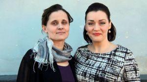 Lemin musiikkijuhlien toiminnanjohtaja Sanna Gango ja taiteellinen johtaja Niina Keitel