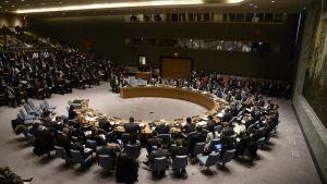 YK:n turvallisuusneuvosto koolla.