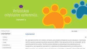 Kuvakaappaus Leijonaemot-yhdistyksen nettisivustolta.