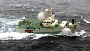 """Norjan tiedustelupalvelun vanha alus  """"Marjata"""" on seilannut Barentsinmerellä vuodesta 1995."""