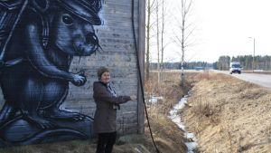 Katutaide; Kärsämäki; graffiti