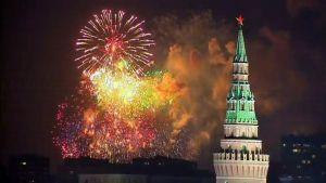Moskova Juhlinta ilotulitus.