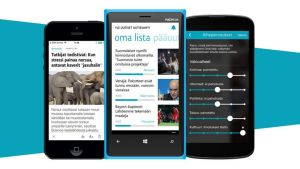 Yle Uutiset Uutisvahti -sovellus eri käyttöjärjestelmän puhelimissa