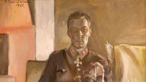 Kustaa Tapola -näyttely, Kustaa Tapola Kari Suomalaisen tekemässä sota-ajan muotokuvassa