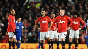 Manchester Unitedin pelaajat.
