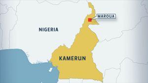 Kartta Kamerunin sijainnista.