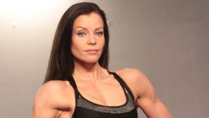 Bodyfitness-kilpailija Maaret Nousiainen.