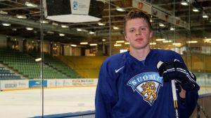 Kasperi Kapanen edustaa Suomea alle 18-vuotiaiden MM-kisoissa.