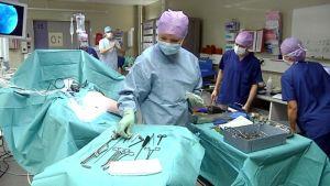 Leikkaus; leikkaussali; polvileikkaus