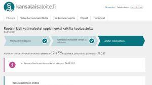 ruotsi valinnaiseksi kansalaisaloite