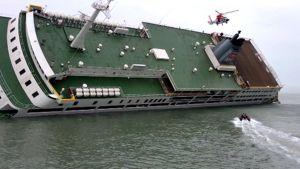 Kallistunut laiva.