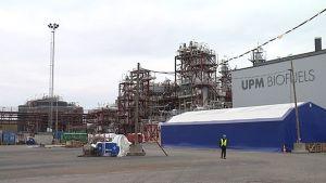 UPM:n biojalostamo Lappeenrannassa.