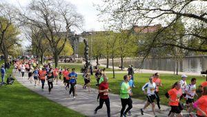 Helsingissä juostiin lauantaina 10. toukokuuta puolimaraton.