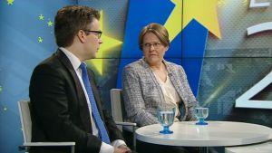 Vihreiden Ville Niinistö ja Heidi Hautala Ylen vieraina 12. toukokuuta.