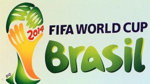 Jalkapallon vuoden 2014 MM-kisojen logo.