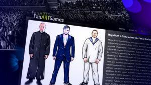 Kuvakaappaus FanART Games -pelifirman nettisivuilta.