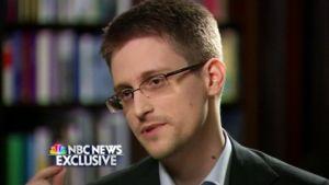 Edward Snowden NBC:n haastattelussa.