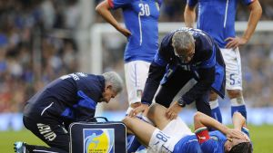 Montolivo loukkaantui Irlantia vastaan 31.5. 2014.