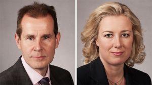 Jouni Backman ja Jutta Urpilainen.