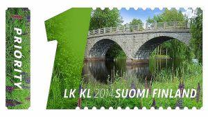 Heinäjoen silta Pihtiputaalta pääsi myös sillat ja vesistöt postimerkkisarjaan.