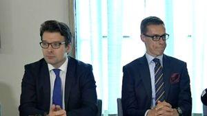 Ville Niinistö, Alexander Stubb ja Antti Rinne
