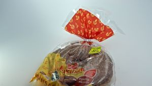 Package of bread with sale sticker.