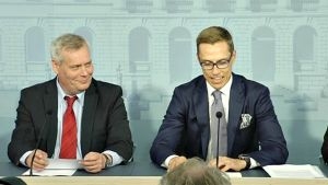 Antti Rinne ja Alexander Stubb.