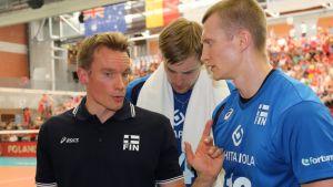 Tuomas Sammelvuo, Konstantin Shumov ja Jukka Lehtonen