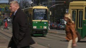 Ratiovaunu Helsingin keskustassa