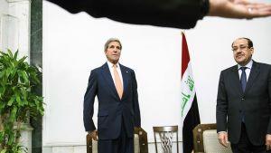Yhdysvaltain ulkoministeri John Kerry ja Irakin pääministeri Nuri al-Maliki tapasivat Bagdadissa maanantaina.