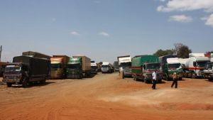 rekkaparkki Ugandassa