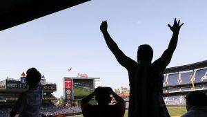 Baseball-fanit seuraavat Belgia-USA -ottelua Atlantassa.
