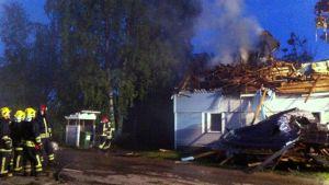 Tulipalo Lappeenrannan Tirilässä.