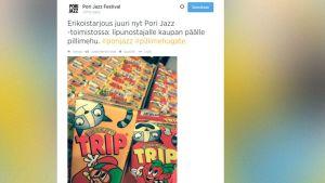 Kuva Pori Jazzin facebook-päivityksestä.