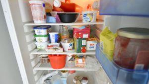 Jääkaapin ovi auki.