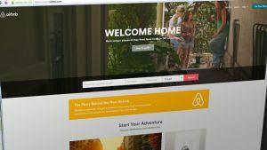 Kuvakaappaus Airbnb:n nettisivustosta.