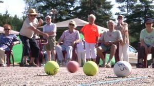 Boccia palloja vanhuksia piirimestaruus